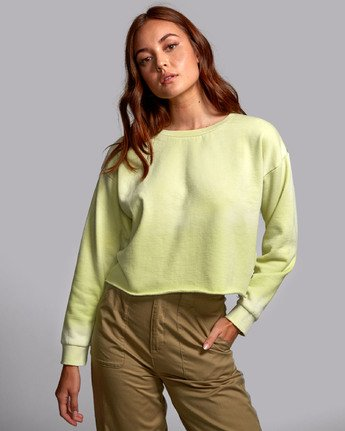 0 BUZZED FLEECE SWEATSHIRT Green W6011RBU RVCA