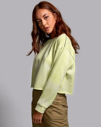 1 BUZZED FLEECE SWEATSHIRT Green W6011RBU RVCA