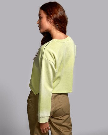 3 BUZZED FLEECE SWEATSHIRT Green W6011RBU RVCA