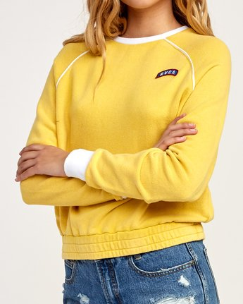 4 Hangtown Fleece Sweatshirt Yellow W601TRHF RVCA