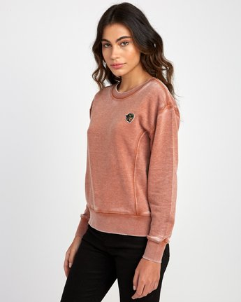 1 Grisancich Prowl Pullover Sweatshirt Orange W601VRPR RVCA