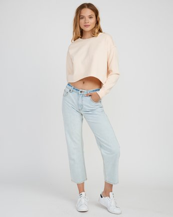 4 Stranger Cropped Sweater Pink W603SRST RVCA