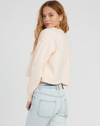 2 Stranger Cropped Sweater Pink W603SRST RVCA
