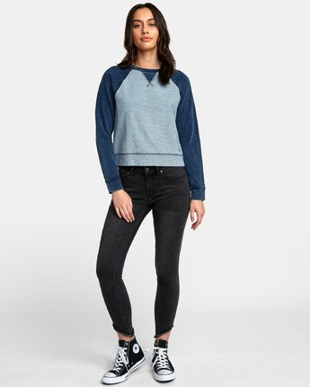 4 Swing It Fleece Sweatshirt Blue W603WRSW RVCA