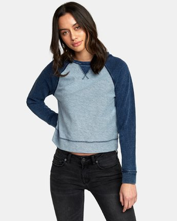 0 Swing It Fleece Sweatshirt Blue W603WRSW RVCA