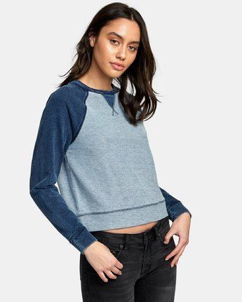 1 Swing It Fleece Sweatshirt Blue W603WRSW RVCA