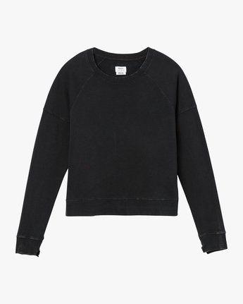 5 Shadethrow Fleece Sweatshirt Black W604QRSH RVCA