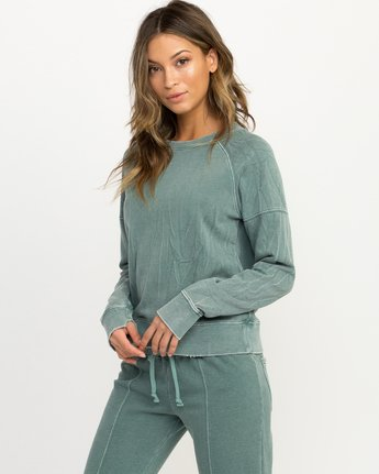 1 Shadethrow Fleece Sweatshirt Green W604QRSH RVCA