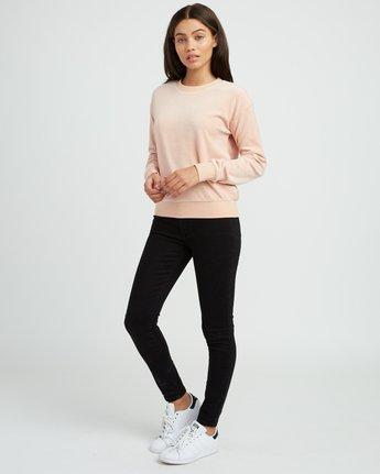3 Babs Velour Fleece Sweater Pink W606SRBA RVCA