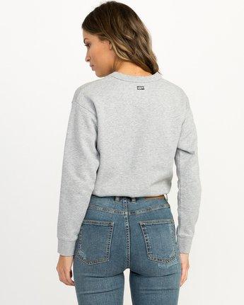 2 Joe Grillo Patch Sweatshirt Grey W608QRGR RVCA