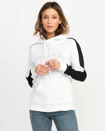 0 Pinner Colorblocked Hoodie White W612QRRV RVCA