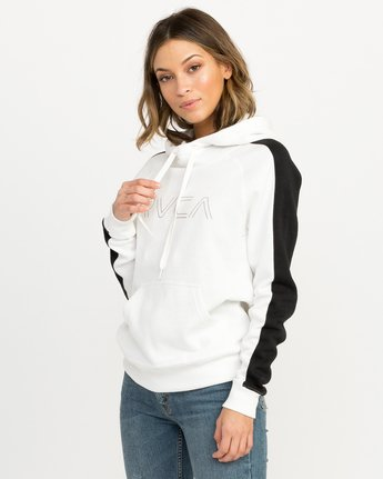 1 Pinner Colorblocked Hoodie White W612QRRV RVCA