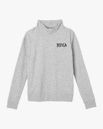 4 Bert Krak OE Mock Neck Sweatshirt Grey W615QRBE RVCA