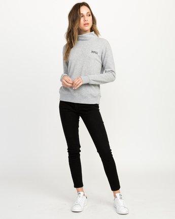 3 Bert Krak OE Mock Neck Sweatshirt Grey W615QRBE RVCA