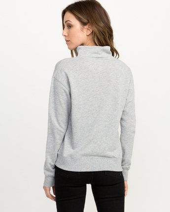 2 Bert Krak OE Mock Neck Sweatshirt Grey W615QRBE RVCA