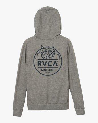6 Mascot Zip Up Hoodie Grey W616SRMA RVCA