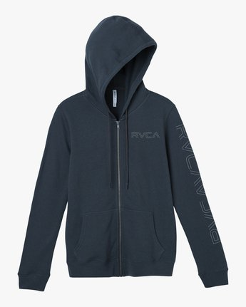 5 Pinned Zip Up Hoodie Grey W616SRPI RVCA