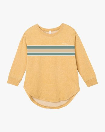 4 Day Stripe Pullover Crew Sweatshirt Multicolor W617QRDA RVCA