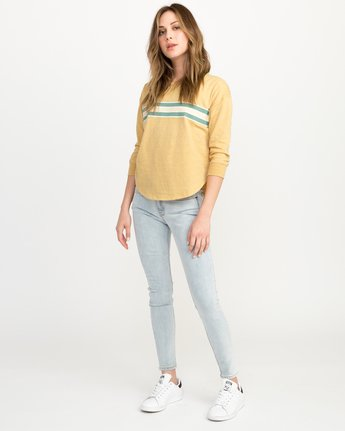 3 Day Stripe Pullover Crew Sweatshirt Multicolor W617QRDA RVCA