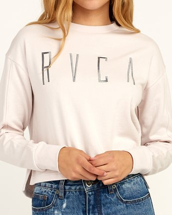 3 Stilt Fleece Pullover Grey W619TRSI RVCA