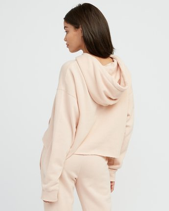2 Pinner Cropped Hoodie Pink W621SRPI RVCA