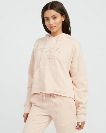 1 Pinner Cropped Hoodie Pink W621SRPI RVCA