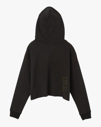 6 Putnam Cropped Hoodie Black W621SRPU RVCA