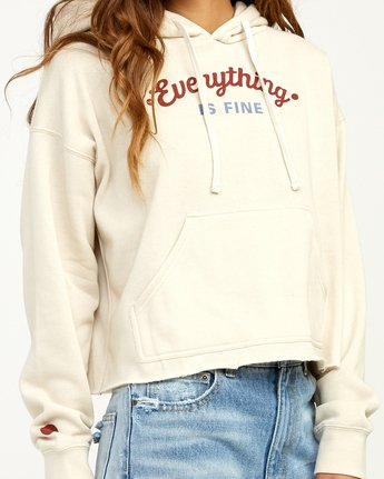 3 Everything Is Fine Hoodie  W621TREV RVCA