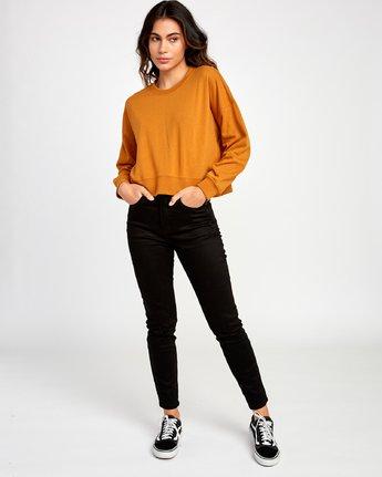4 Big Copy Pullover Sweatshirt Orange W627VRBI RVCA