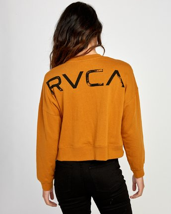 3 Big Copy Pullover Sweatshirt Orange W627VRBI RVCA