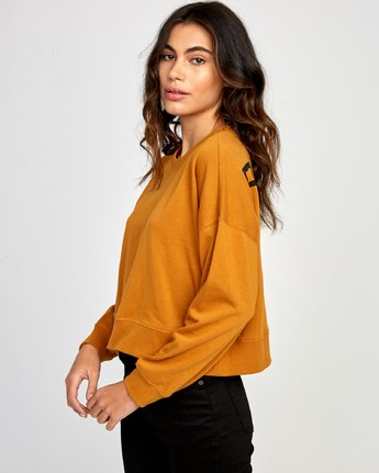 2 Big Copy Pullover Sweatshirt Orange W627VRBI RVCA