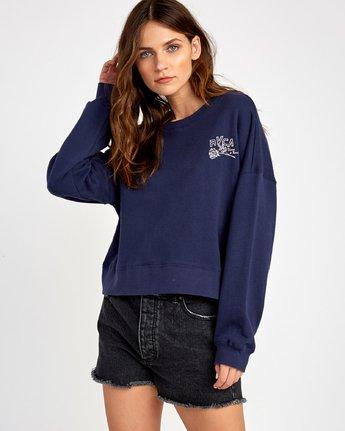 1 Thorns Pullover Sweatshirt Blue W627VRTH RVCA