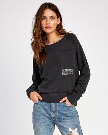 1 Spec Raglan Sweatshirt Black W631VRSP RVCA