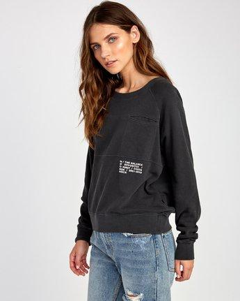 2 Spec Raglan Sweatshirt Black W631VRSP RVCA