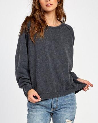 3 Everyday Label Sweatshirt Black W634VREV RVCA