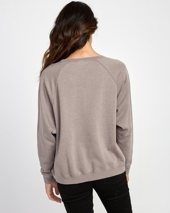 3 Everyday Label Sweatshirt Grey W634VREV RVCA