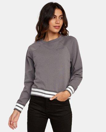 1 Cooper Raglan Sweatshirt Grey W637WRCO RVCA
