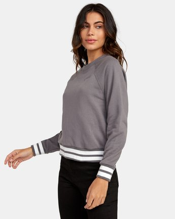 2 Cooper Raglan Sweatshirt Grey W637WRCO RVCA