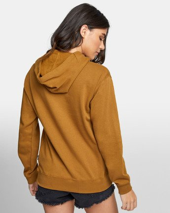 3 PATCH SEAL PO HOODIE Brown W6391RPS RVCA