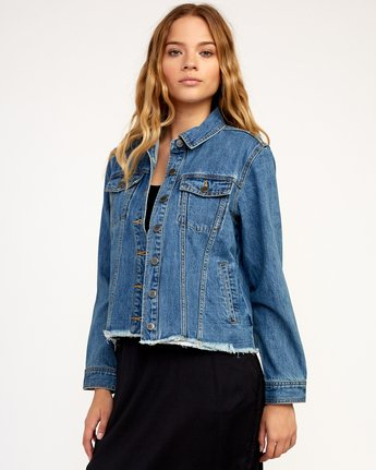 1 Pause It Striped Denim Jacket  W702TRPA RVCA