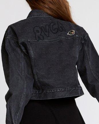 6 Grisancich Empire Denim Jacket Black W702VREM RVCA