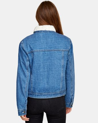 2 Spitting Image Denim Jacket Blue W702WRSI RVCA