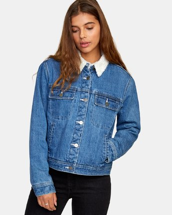 1 Spitting Image Denim Jacket Blue W702WRSI RVCA
