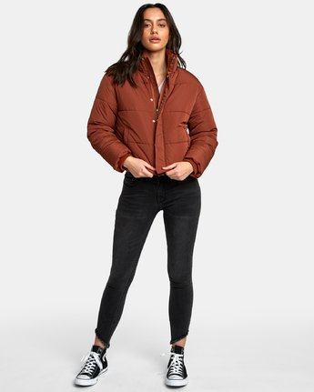 4 Eezeh Puffer Cropped Jacket  W703QREE RVCA