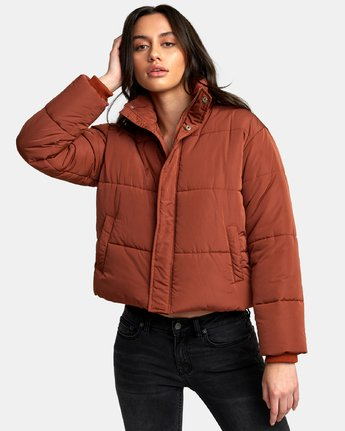 0 Eezeh Puffer Cropped Jacket  W703QREE RVCA