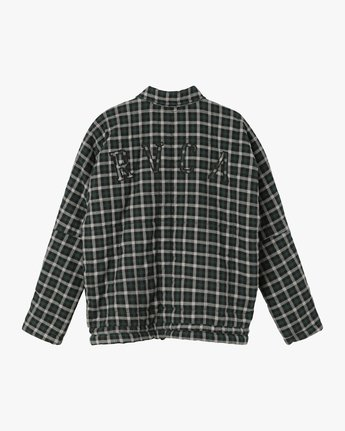 7 Caddy Plaid Flannel Jacket Green W703SRCA RVCA