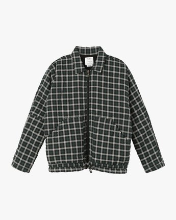 6 Caddy Plaid Flannel Jacket Green W703SRCA RVCA