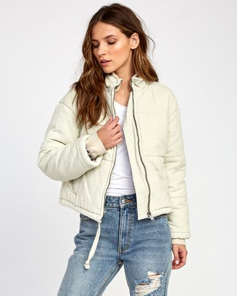 6 Eezeh Corduroy Puffer Cropped Jacket  W703VREE RVCA