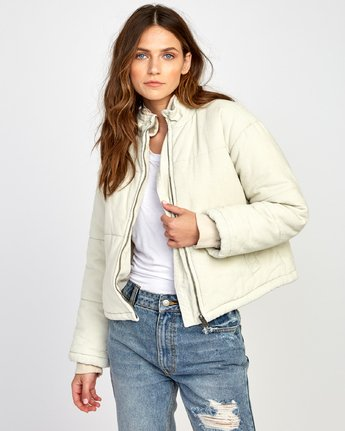 2 Eezeh Corduroy Puffer Cropped Jacket  W703VREE RVCA