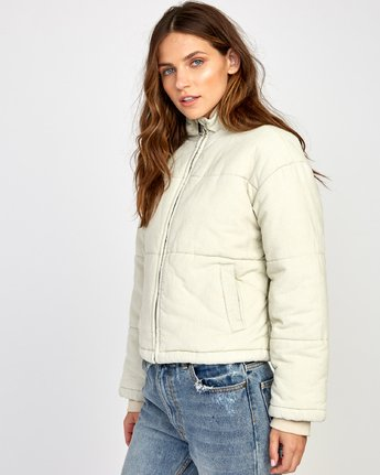 3 Eezeh Corduroy Puffer Cropped Jacket  W703VREE RVCA